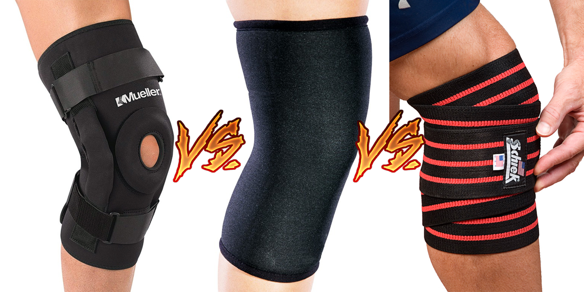 Knee Sleeves VS Knee Braces VS Knee Wraps