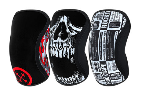 All Rocktape assassin knee sleeve designs