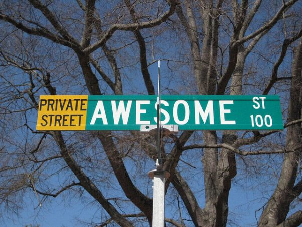 Awesome Street Sign