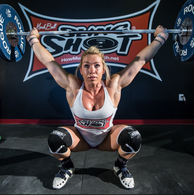 slingshot knee sleeves - female squat